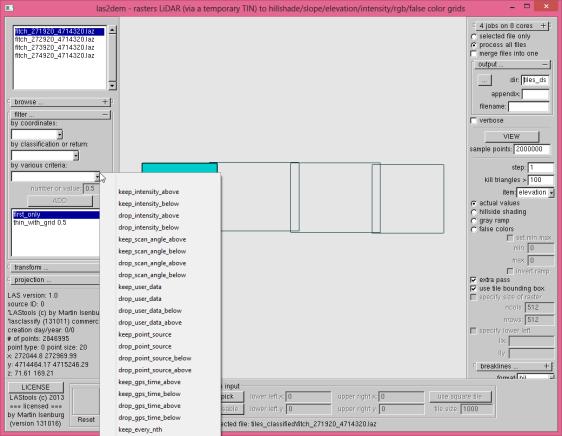 tutorial3 las2dem GUI dsm