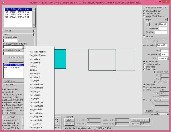 tutorial3 las2dem GUI generate DTM