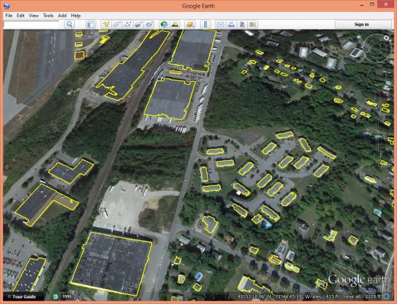 tutorial3 lasboundary merged buildings kml