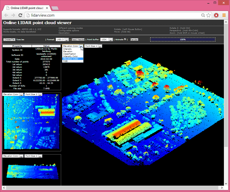 online Web viewer for LiDAR | rapidlasso GmbH