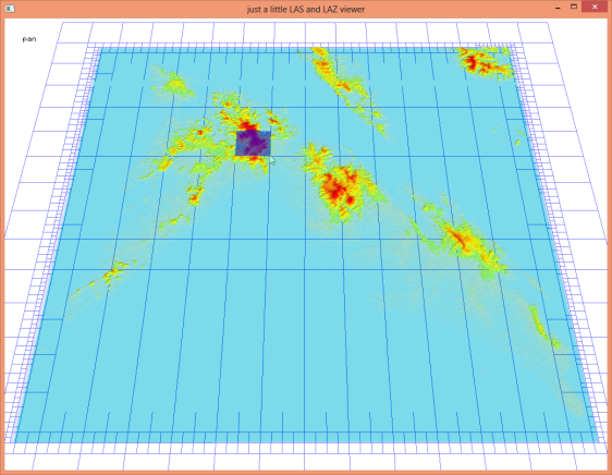 The points of the 50m Aster DTM as a LAZ file with the LAX spatial indexing quadtree  generated by lasindex.