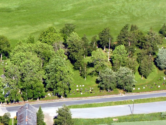aerial view of a mound in North-Trøndelag
