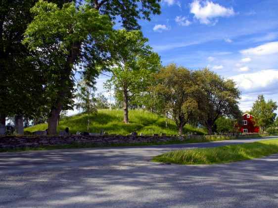 the same  mound seen from the ground