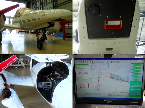 "The ""airborne sensors"" of  Asian Aerospace Services is equpiied with a RIEGL Q680i airborne LiDAR scanner."
