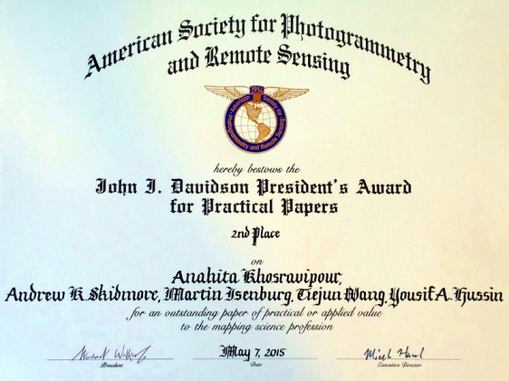 The John I. Davidson President's Award for Practical Papers (2nd Place).