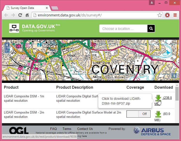 England Releases National LiDAR DEM With Insane Vertical - Dem download