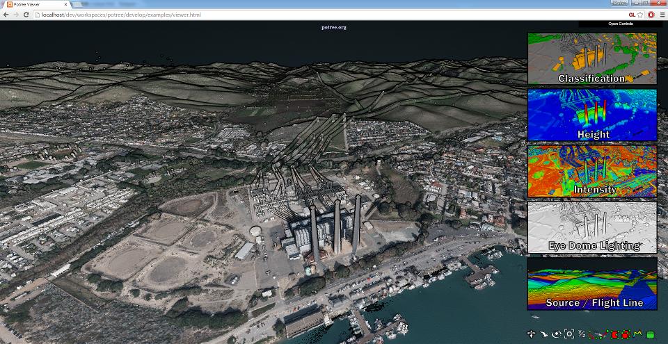 17.7 billion points around San Simeon,, CA courtesy of Open Topography