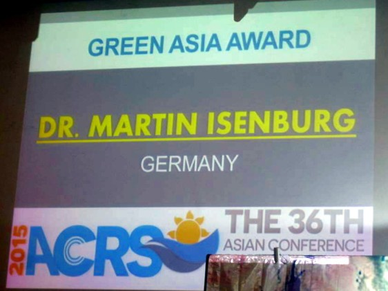 Green Asia Award for CEO of rapidlasso GmbH
