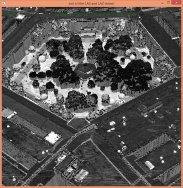 Laserbird's eye view of Pentagon courtyard