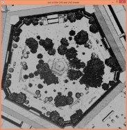 Zoom on Pentagon courtyard.