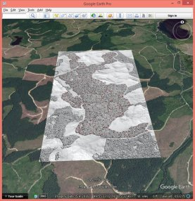 Hillshading of dense matching points created with las2dem.