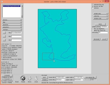 We overlay the polygon for orientation and sample 10 million points in the selected area.