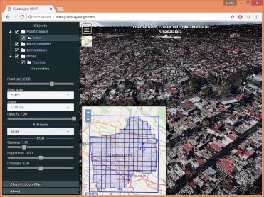 City of Guadalajara creates first Open LiDAR Portal of Latin America