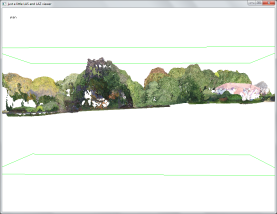 The clean photogrammetric point clouds.