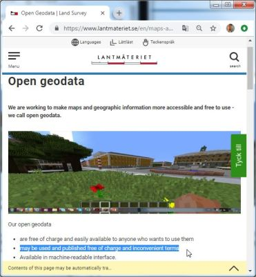 Open Geodata Landing Page.