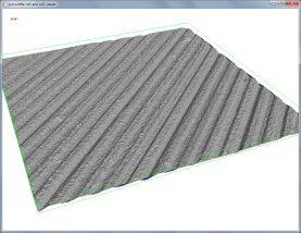 Hillshading only the points of another flight line. Notice the horizontal shift.