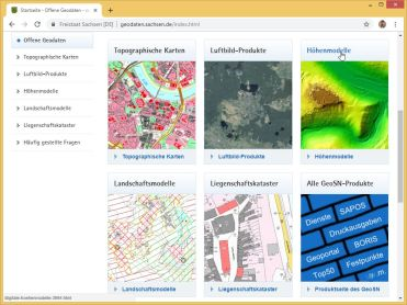Products available in Saxony's new open data portal.